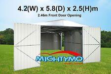 Garden Shed, 4.2(W) x 5.8(D) x 2.5(H)m, Large Steel, Workshop, Storage, Garage