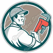 "Plumbing Plumber Pipe Monkey Wrench Car Bumper Window Vinyl Sticker Decal 4.6"""