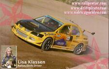 2007 Lisa Klassen Rally/Drifting postcard