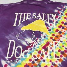 The Salty Dog Cafe Tye Dye Small T-Shirt Hilton Head Island S Carolina Seafood