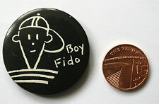 BOY FIDO Dido Original VTG 1980`s Large 37mm Button Pin Badge Mikhail Gorbachev