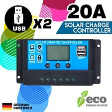 12v/24v Solar Panel Battery Regulator Charge Controller 20a PWM LCD USB