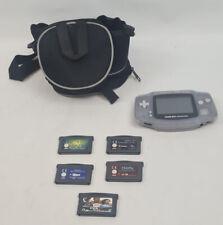 Clear Glacier Nintendo Game Boy Advance Handheld Console + Case And Games Bundle