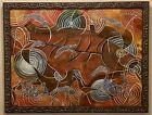 Amazing Francisco Toledo Mixed Media Painting, Signed And Framed