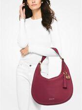 New MICHAEL KORS Lydia Leather Shoulder Bag w Tassel Mulberry 30F7GL0L3L