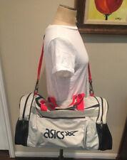 """Vintage ASICS Duffle Bag Shoulder Large Travel Tote Gym Sports 22x11"""""""