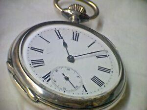 Taschenuhr Lépine Ankergang 18''', ca 1890 in Silber Pelican Phenix