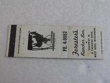 U163 Vintage Matchbook Cover WI Wisconsin Forester's Rancher Bar West Bend