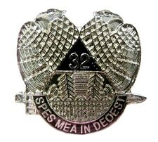 32nd Degree Mason Pin Sublime Prince Master Spes Mea in Deo Est Lapel Cap New