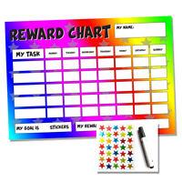 Rainbow Reward Chart - Sticker Star Chart - Potty Training - Toddlers Kids Child