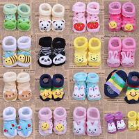 Unisex Cute Newborn Indoor Anti-slip Baby Warm Socks Animal Cartoon Shoes Boots