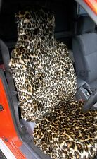 NISSAN X-TRAIL/ PATHFINDER CAR SEAT COVERS- GOLD LEOPARD FAUX FUR- FULL SET