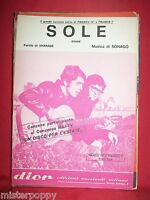 FRANCO IV° e FRANCO I° Sole 1969 Spartito Sheet Music