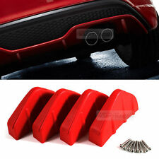 Bumper Diffuser Molding Aero Parts Lip Fin Body Spoiler Chin Red For RV SUV Car