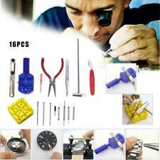 16Pcs Watch Repair Tool Kit Case Opener Link Pin Remover Screwdriver Tools