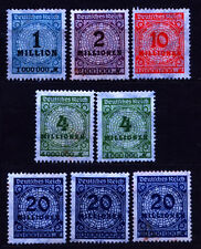 Germany (DR) 1923 Mi 314-319 Inflation Series - NG