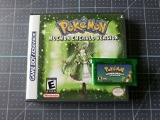 Pokemon Moemon Emerald Mod - Game and Case Gameboy Advance GBA Tested and Works
