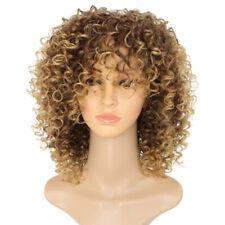 Fashion Women Blonde Kinky Curly Wigs Ladies Afro Natural Short Wavy Hair Wig UK