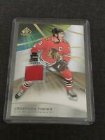 Jonathan Toews 2019-20 SP Game Used Hockey Game Used Jersey Relic Card # 4