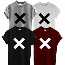 The XX T Shirt Coexist Cross Top Band Indie Crooks Amsterdam Burgundy Rum Unisex L Black