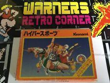 Nintendo Famicom Hyper Sports Game W/ Manual Boxed