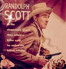 Randolph Scott Riding Shotgun 1954 Original Movie Poster Fantastic Western Image