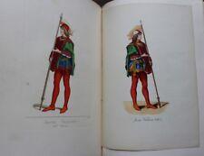 Paul MERCURI Costumes Historiques 1860-61 200 planches couleurs + 23 aquarelles