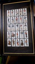 More details for englands's old england's defenders' cigarette cards (1898) rare framed set