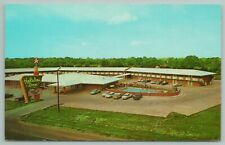 Baton Rouge Louisiana~Holiday Inn Aerial View~Swimming Pool~Vintage Postcard