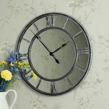 Orologi da parete a batteria argento vetro