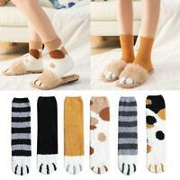 Women Girl Winter Warm Funny Cartoon Cat Paw Christmas Ankle Socks