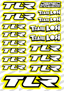TEAM LOSI TLR RC BUGGY TRUCK STICKER SET A5 OFFROAD AKA TRUGGY NITRO EP JSPEC