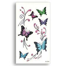 Flash Einmal Temporary Klebe Tattoo Schmetterlinge Party Geschenk Strand Urlaub