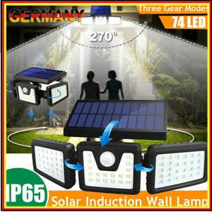 LED Solarleuchte Fluter Strahler Flutlicht Scheinwerfer mit Bewegungsmelder NEU