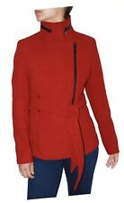 662e582ec24f BCBG Women s Asymmetrical Zip Short Belted Coat (Red