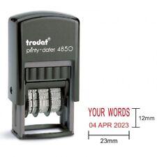 TRODAT Printy 4850 Custom Words + Dater Self-Inking