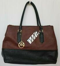 Emilie M. Womens Handbag Tote Bag Shoulder Purse Nutmeg Brown Black Large NWT