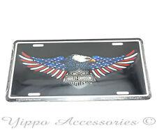 Harley Davidson Motorcycles Patriotic Aluminum Metal License Plate Sign Tag
