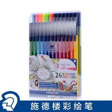 Assorted 26 Color Staedtler Triplus Fiber-Tip Coloring Pen323 TB26JB For Adult