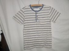 H&M Boys Beige Striped Short Sleeve T-Shirt 100% Cotton Size 8-10 Years