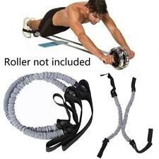 1 x Double Wheels Ab Roller Pull Rope Waist Abdominal Slimming Sports Tool