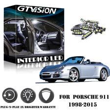 16x White LED Light Interior Package Kit for Porsche 911 996 Carrera Turbo 98-05