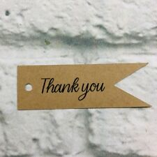 Set of 25 Thank you Kraft Paper Hang Tags Wedding Birthday Bridal Party Favor