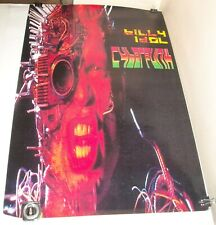 ROLLED 1993 BILLY IDOL - CYBERPUNK PROMO ADVERTISING POSTER CHRYSALIS RECORDS