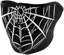 NEW Zan Spider Web Warm Neoprene Half Face Biker Motorcycle Ski Snowboard Mask