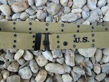 US Army Cinturone buco Cinturone m36 Uniform BELT wk2 WWII 1944 USMC Marines Taglia M -105