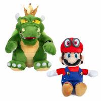 Super Mario Bros.- King Koopa Red Cap Mario Plush Doll Stuffed Toys New Year