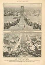 NY, Williamsburg Bridge, New East River Bridge, World's 2nd Longest Span, 1902