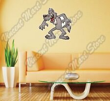 "Cartoon Gray Wolf Smiling Kids Gift Wall Sticker Room Interior Decor 22""X22"""