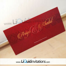 Asian wedding card Sample Personalise Indian Sikh Muslim Hindu